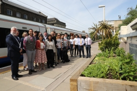 Charushila/Energy Garden - Acton Central Railway Station Flower Bed opening - 18/5/18